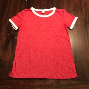Old Navy Red and white ringer tee